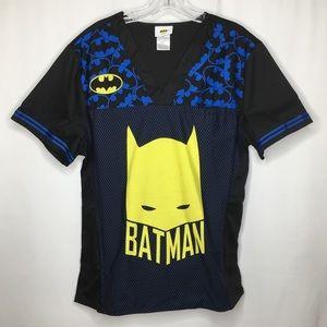 Batman Scrub Top Short Sleeve Medium